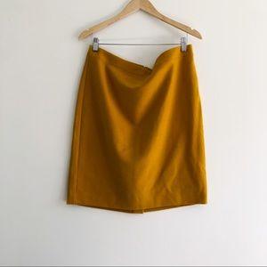 J.Crew Yellow Mustard Wool Pencil skirt